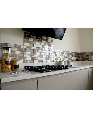 Craft Ceramics Portland Brown Brick Mosaic Tile