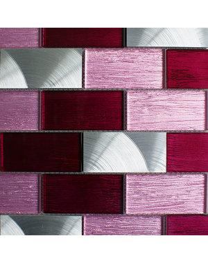 Craft Ceramics Portland Pink Brick Mosaic Tile
