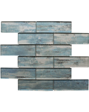Craft Ceramics Driftwood Blue Glass Mosaic Tile