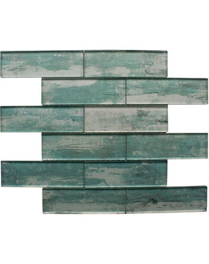 Craft Ceramics Driftwood Green Glass Mosaic Tile
