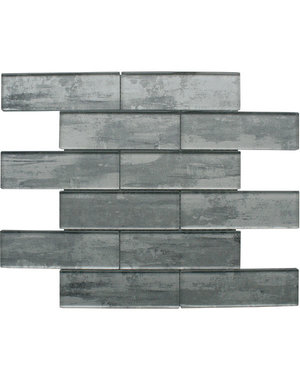 Craft Ceramics Driftwood Grey Glass Mosaic Tile