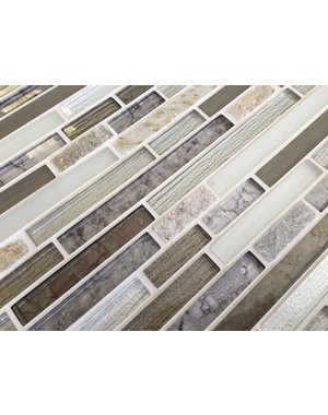 Craft Ceramics Elements Dolomite Glass and Stone Mosaic Tile