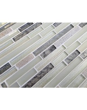 Craft Ceramics Elements Calcite Glass and Stone Mosaic Tile