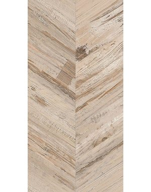 Luxury Tiles Azteca Chevron Honey Coated Wood effect tile