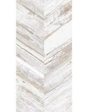Luxury Tiles Azteca Chevron White Wood effect tile