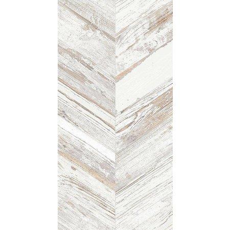 Luxury Tiles Azteca Chevron White Wood effect tile 900x450mm