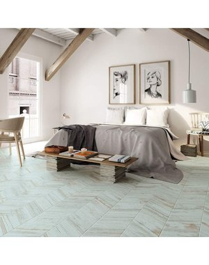 Luxury Tiles Azteca Chevron Teal Touch Wood effect tile