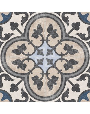Luxury Tiles Victorian Faded Royal Pattern Floor tile