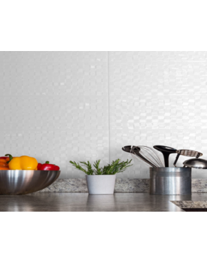 Luxury Tiles Pressed White Mosaic Wall Tile 200 x 500mm