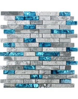 Luxury Tiles Natural Lapis Lazuli Brick Mosaic Tile