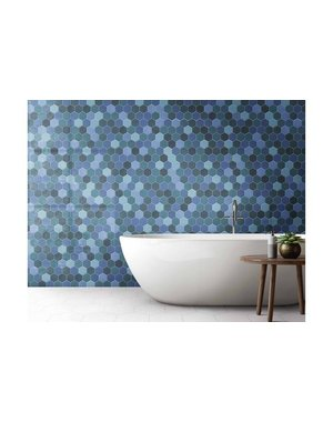 Luxury Tiles Hexagon Lagoon Blu Wall & Floor Tile