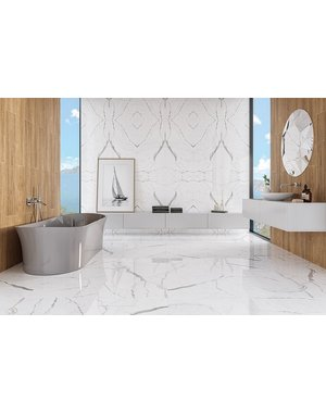 Luxury Tiles Turin Carrara Marble Effect Polished Tile 120 x 60cm