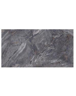 Luxury Tiles Dark Gris Diamond Polished Marble Effect Tile 1200x60mm