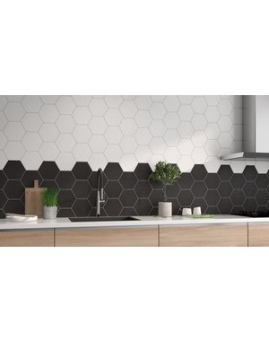 Luxury Tiles Chelsea Black Hexagon Wall and Floor Tile