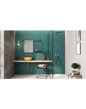 Luxury Tiles Chelsea Emerald Green Hexagon Wall and Floor Tile