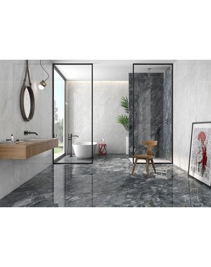 Luxury Tiles Stone Grey Marble Effect 750x750mm Polished Tile