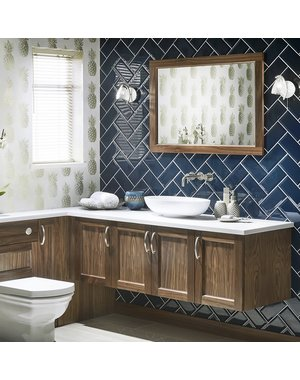 Luxury Tiles Royal Metro Classic Blue 10x20cm Tile