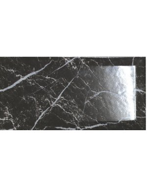 Luxury Tiles Royal Metro Nero Marquina Marble Effect 10x20cm Tile