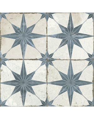 Luxury Tiles Astral Star Blue patterned 450 X 450MM