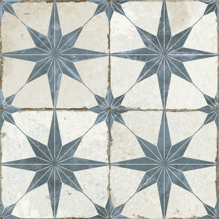 Luxury Tiles Astral Star Blue patterned tiles 45 x 45cm