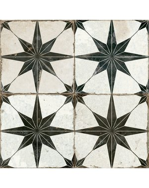 Luxury Tiles Astral Star Black patterned 450 X 450MM