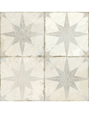 Luxury Tiles Astral Star Grey patterned 450 X 450MM