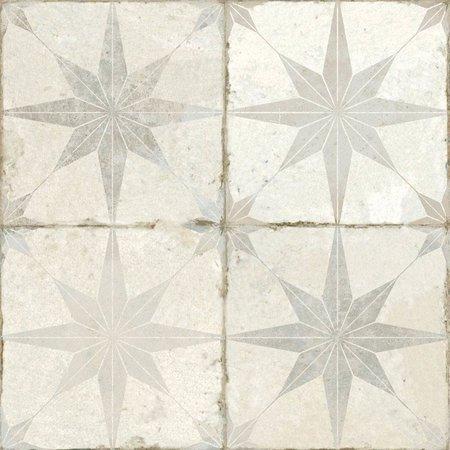 Luxury Tiles Astral Star grey patterned tiles 45 x 45cm