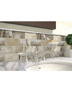 Luxury Tiles Oyster Glass Brick Mosaic Tile