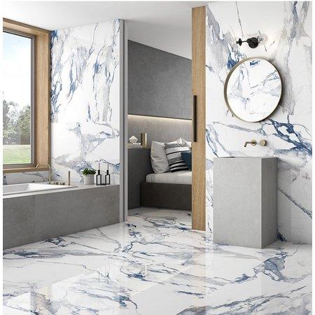 Luxury Tiles Aleotti Royal Blue Marble Effect 1200x600mm Porcelain Tile