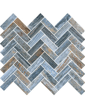 Luxury Tiles Magnolia Porcelain Blue Mosaic Tile 32x28cm