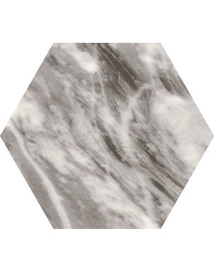 Luxury Tiles Hexagon Marble Grey 17.5×20cm Wall & Floor Tile