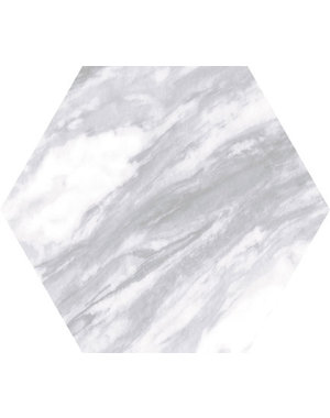 Luxury Tiles Hexagon Marble Light Grey 17.5×20cm Wall & Floor Tile