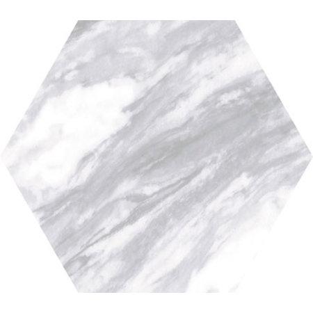 Luxury Tiles Hexagon Marble Light Grey 175×200mm Wall & Floor Tile
