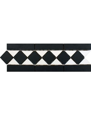Luxury Tiles Victorian Black and White Border Tiles