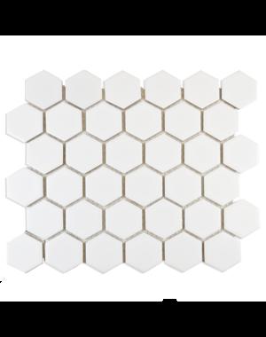 Luxury Tiles Polished White Hexagon Mosaic Tile