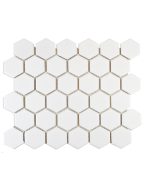Luxury Tiles White Hexagon Polished Mosaic Tile 325x282mm