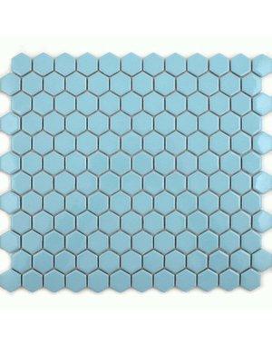 Luxury Tiles Baby Blue Hexagon Mosaic Tile