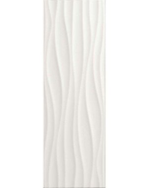 Luxury Tiles White Wave Décor Tile