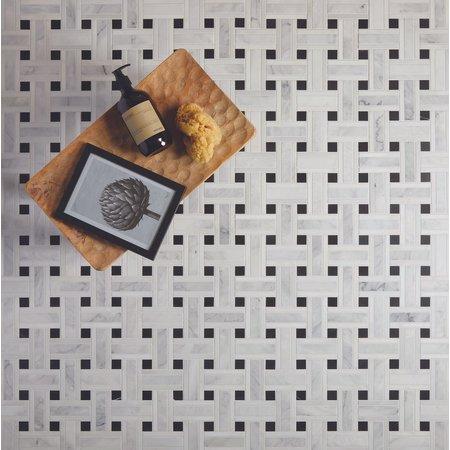 Luxury Tiles Basket Weave Marble Mosaic Honed