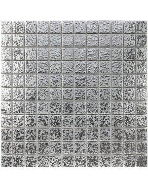 Luxury Tiles Silver Ceramic Magnolia Mosaic Tile