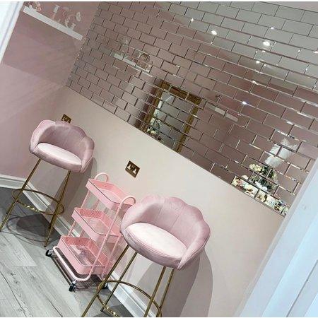 Luxury Tiles Dior Glass Mirror Brick Metro Slim 10x20cm Tile