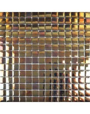 Luxury Tiles Gold Finish Lapatta Square Glass Mosaic Tile