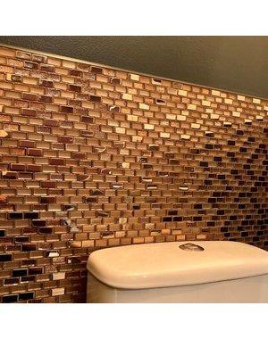 Luxury Tiles Egypt bronze Rose gold mosaic tile 30x30cm