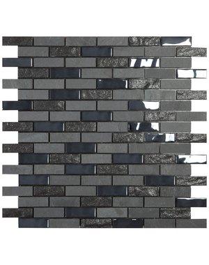 Luxury Tiles Self Adhesive Black Marble Brick Mosaic Tiles