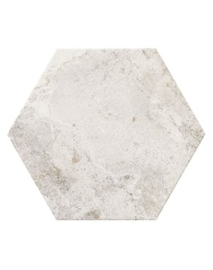 Luxury Tiles Angolan Hexagon White Rustic Tile