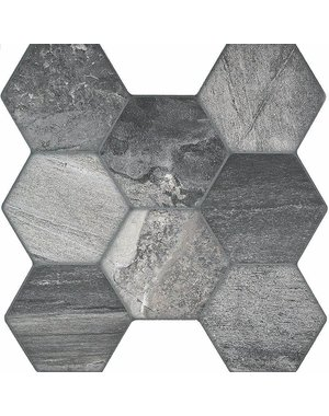 Luxury Tiles Ocean Grey Hexagon Tile