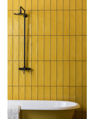 Luxury Tiles Butterscotch Metro Flat Gloss Ceramic 200x100mm