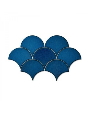 Luxury Tiles Fish scale Royal Blue Decor Wall Tile