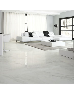 Luxury Tiles Calacatta Gloss Marble effect tile 80cm x 80cm