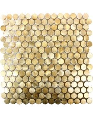 Luxury Tiles Luxor Gold Penny Mosaic Tile 30x30cm